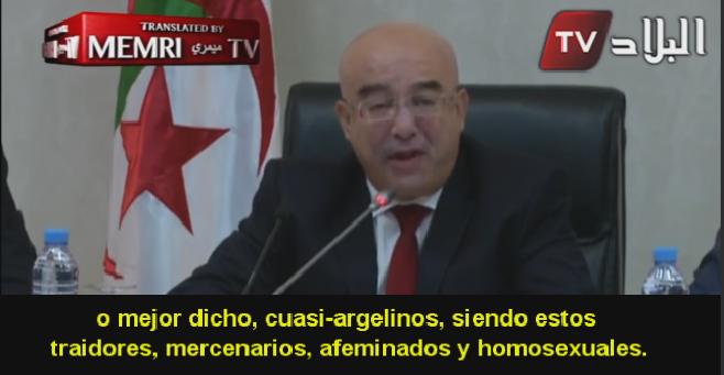 Ministro del Interior argelino describe a opositores políticos como homosexuales y traidores