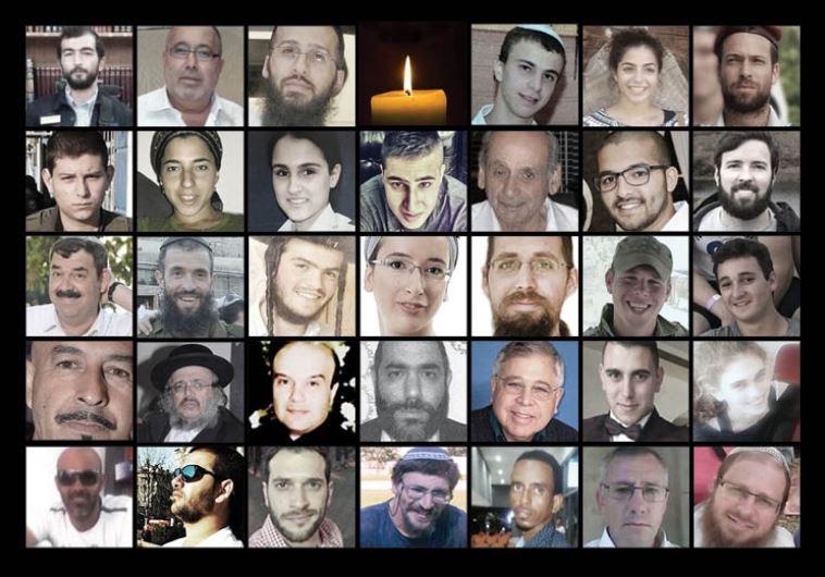 Heroes de Israel – Los 34 asesinados en esta ola de terrorismo palestino