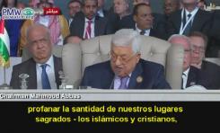 Presidente de la Autoridad Palestina Abbas: Israel profana nuestros lugares sagrados