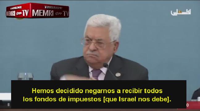 """Mahmoud Abbas: """"Le pagamos dinero a Mártires y prisioneros"""" (pero miente en la cifra)"""