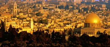 An aerial view of Jerusalem, Israel