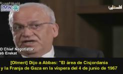 """""""Olmert ofreció a Abbas más del 100% de Cisjordania, y Abbas de todos modos rechazó el acuerdo de paz"""" - Por Itamar Marcus y Nan Jacques Zilberdik (PMW)"""