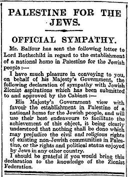 Los palestinos y los 100 años de la Declaración Balfour: Resistiéndose al pasado – Por Dr. Alex Joffe (BESA)