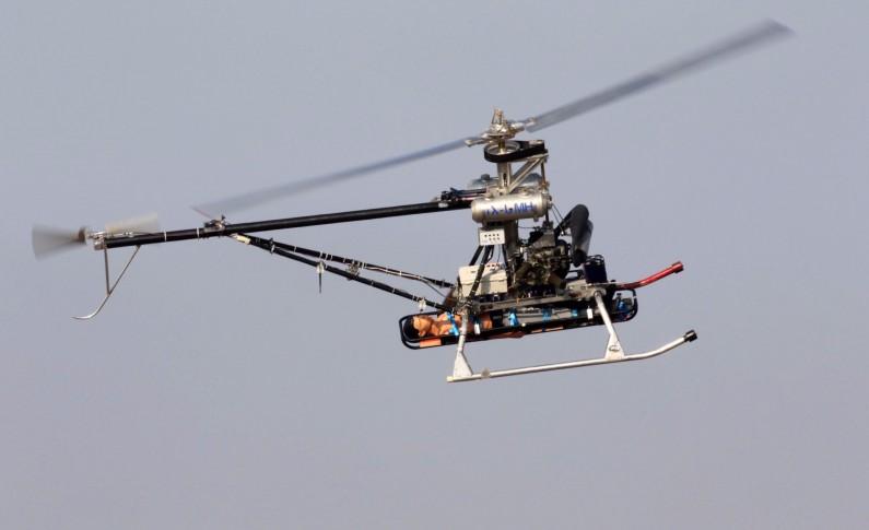 Helicóptero no tripulado rescata soldados heridos del campo de batalla