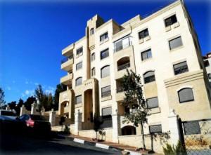 El edificio de Dubai en Ramallah cerca del barrio Al-Masyoun