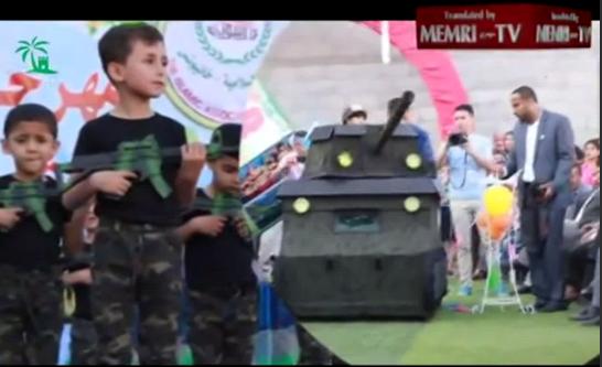 Educación al odio en el 8º Festival Infantil Palestino de Jan Yunes (Gaza)