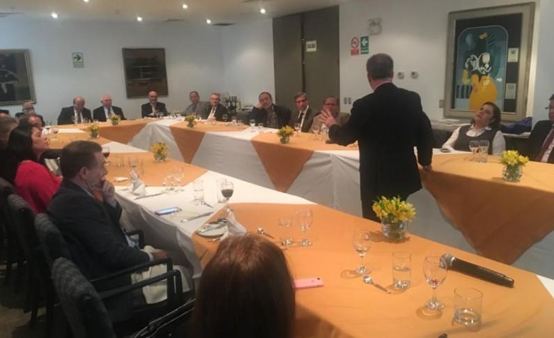 Reunión con colegas periodistas en Lima Perú – El Medio Oriente 2018