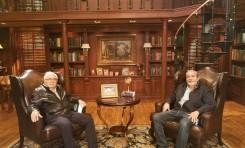 Roby Croitorescu y Sammy Eppel (Hatzad Hasheni) visitan al Pastor John Hagee en San Antonio Texas