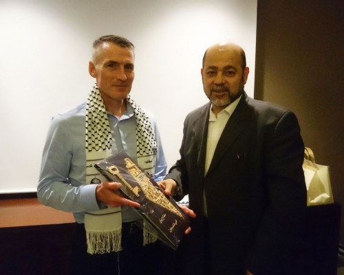 Sinn F?in Declan Kearney, with the Sinn Fein delegation travelled to Istanbul and met with Hamas representatives including Dr Musa Abu Marzouk