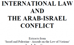 International Law and the arab-Israel conflict - Julius Stone