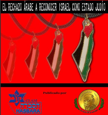 El rechazo árabe a reconocer el judaísmo de Israel