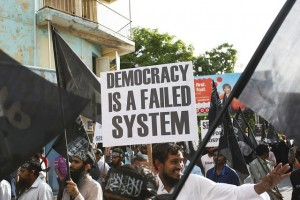 Maldives-democracy-failure-sign
