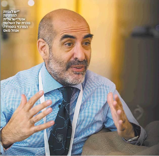 """Entrevista a Ángel Mas (ACOM) en Israel Hayom (Yair Altman – 6/7/2018):  """"Hay 12 periodistas españoles fijos en Israel, todos anti-israelíes, que escupen veneno, odio y exaltación al terrorismo"""""""