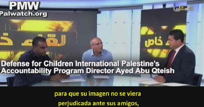 """Chicos palestinos cometen ataques terroristas para evitar sospechas """"que ayudan a Israel"""""""