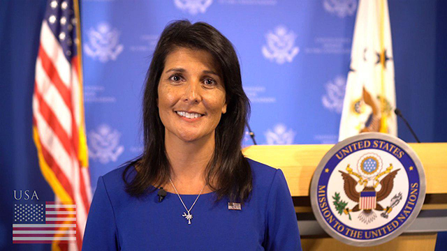 """Nikki Haley respalda la postura de Trump sobre """"regímenes peligrosos y desestabilizadores"""" – Por Batya Jerenberg (World Israel News)"""
