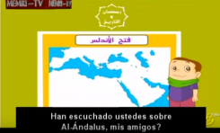 Programa educativo Qatari para ordenadores loa la conquista de España