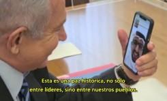 Netanyahu realiza histórica videollamada con representante de los Emiratos Árabes Unidos en hebreo