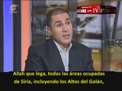Parlamentario sirio: Los Altos del Golán deben ser parte de cualquier solución a la guerra en Siria