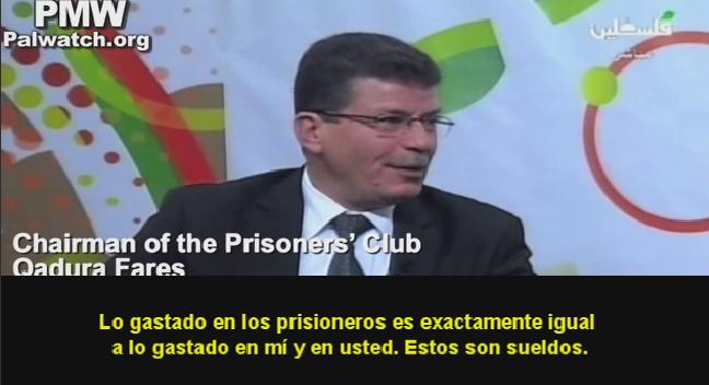 Presidente del Club de Presidiarios Palestinos: Los prisioneros (terroristas) reciben Salarios