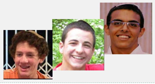 Secuestro de los tres jóvenes en Gush Etzion