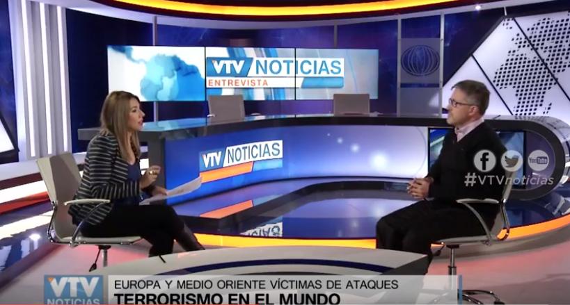 Breve entrevista en VTV noticias sobre terrorismo islámico