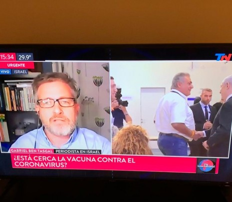 Entrevista TN Argentina sobre el Corona en Israel
