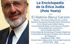 Conferencia Rabino Baruj Garzón sobre el libro de le ética judía (Pele Yoetz)