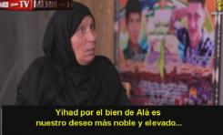 """Madre de """"mártir"""" palestino: Todas las madres palestinas deben instar a sus hijos a librar la yihad"""
