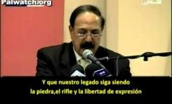 Alternaremos el rifle, la piedra y la libertad de expresión
