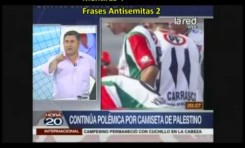 Daniel Jadue (Chile) 18 mentiras y 3 frases antisemitas en 9 minutos