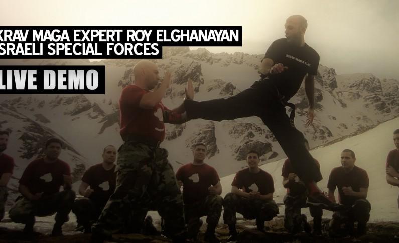 El experto israelí Roy Elghanayan demuestra que es Krav Maga