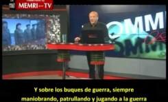 Galloway en la TV iraní culpando a EE.UU.