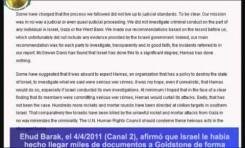 Goldstone reconoce que su informe sobre Gaza es un fiasco