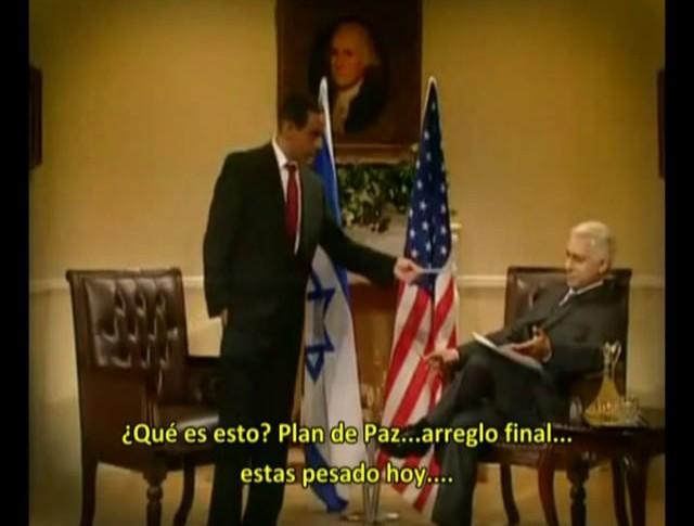 Humor israelí: Eretz Nehederet -- Tenso encuentro Obama-Bibi