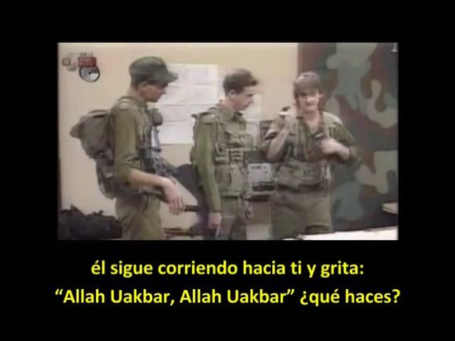 Humor israelí: Ordenes de apertura de fuego del soldado israelí