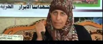 Madre de asesino palestino también amenaza con un cuchillo
