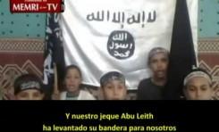 Niños tunecinos recitan una canción para Al Qaeda
