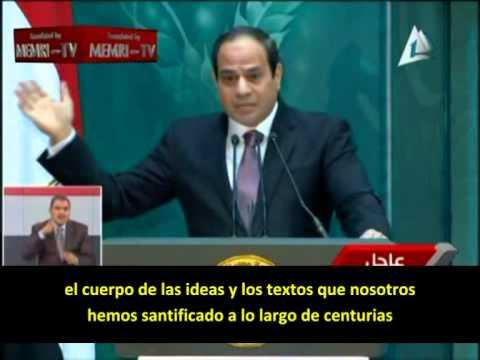 Poco común autocritica del Presidente A-Sissi acerca del Islam radical