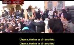 Siria: Manifestación de los islamistas Jabhat Al Nusra