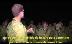 Un oficial israelí prepara a sus soldados para entrar en Gaza (17/7/2014)